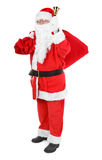 Santa claus with attributes on white Royalty Free Stock Photo