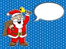 Santa Claus avec la bulle de la parole illustration de vecteur