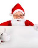 Santa Claus avec le conseil Photos libres de droits