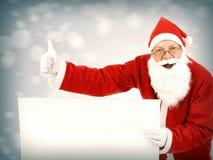 Santa Claus avec le conseil vide Images libres de droits