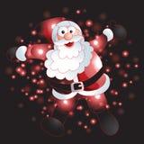 Santa Claus avec le fond de Noël et le vecteur de carte de voeux Photo stock