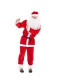 Santa Claus avec le pouce vers le haut du signe Image libre de droits