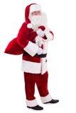 Santa Claus avec le sac Photographie stock libre de droits
