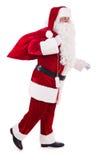 Santa Claus avec le sac Photo stock