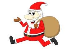 Santa Claus avec le sac de cadeau illustration de vecteur