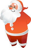 Santa Claus avec le sourire en verre Photos stock