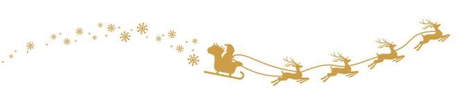 Santa Claus avec le traîneau et les rennes illustration libre de droits