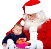Santa Claus with a baby Royalty Free Stock Photography