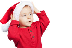 Santa Claus baby boy Stock Images