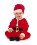 Santa Claus baby girl Royalty Free Stock Image