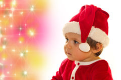 Santa Claus baby girl Stock Photography