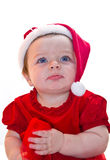 Santa Claus baby girl Royalty Free Stock Photography