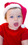 Santa Claus baby girl Stock Image