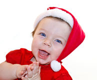 Santa Claus baby girl Royalty Free Stock Photos