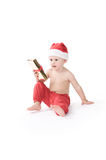 Santa claus baby in studio in christmas time Stock Image