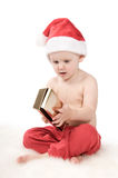 Santa claus baby in studio in christmas time Stock Photography