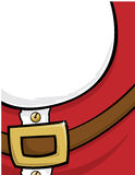 Santa Claus Background. Cropped front of Santa Claus suit belt and beard. Use as a background and white space for copy Royalty Free Stock Image