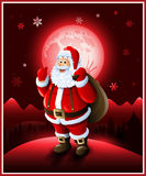 Santa Claus background Christmas greeting card Royalty Free Stock Image