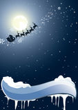 Santa Claus on a background of the full moon Royalty Free Stock Photos