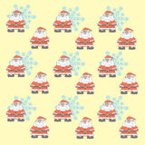 Santa Claus (background). The pattern for the background, made up of many small Santa Claus and snowflakes Royalty Free Stock Photography