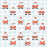 Santa Claus (background). The pattern for the background, made up of many small Santa Claus and snowflakes Stock Photos