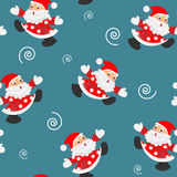 Santa claus.  background.seamless texture. Royalty Free Stock Image