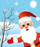 Santa claus on a background winter landscape Stock Images