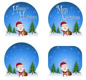 Santa Claus Backgrounds 2 Royalty Free Stock Images