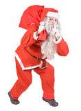 Santa Claus with bag Stock Photo