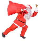 Santa Claus with a bag Royalty Free Stock Photos
