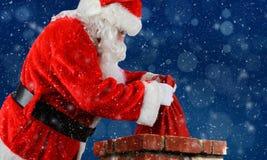 Santa Claus Bag Chimney Royalty Free Stock Photos