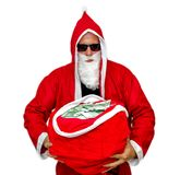 Santa Claus with bag full of money Stock Photography