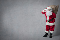 Santa Claus with a bag full of presents Stock Image