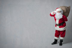 Santa Claus with a bag full of presents Stock Photography