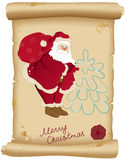 Santa Claus and bag with gifts Royalty Free Stock Photos
