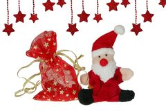 Santa Claus with a bag of gifts Stock Image