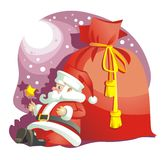 Santa Claus and bag with gifts_Christmas Stock Images