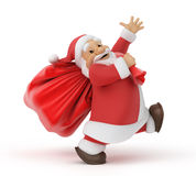 Santa Claus with a bag of gifts Stock Photos