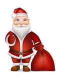 Santa Claus and a bag of gifts Stock Image