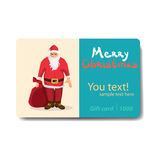 Santa Claus with a bag of gifts. Sale discount gift card Stock Photo