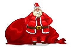 Santa Claus with bag Stock Photography