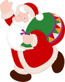 Santa Claus with Bag. This Illustration is Santa Claus with Bag.There is in addition a vector format (EPS 10 Stock Photos