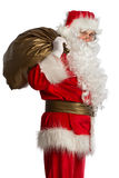 Santa Claus with bag isolated Stock Photo