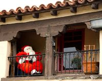 Santa Claus on a balcony Royalty Free Stock Photography