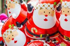 Santa Claus ballongmodell Arkivbilder