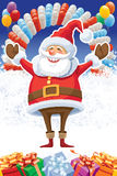 Santa Claus and balloons Stock Image