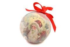 Santa Claus-BallWeihnachtsbaumspielzeug Lizenzfreies Stockfoto
