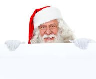 Santa Claus with banner Stock Image