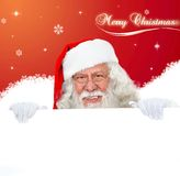 Santa Claus with banner Royalty Free Stock Images