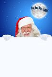 Santa Claus with banner Royalty Free Stock Photos